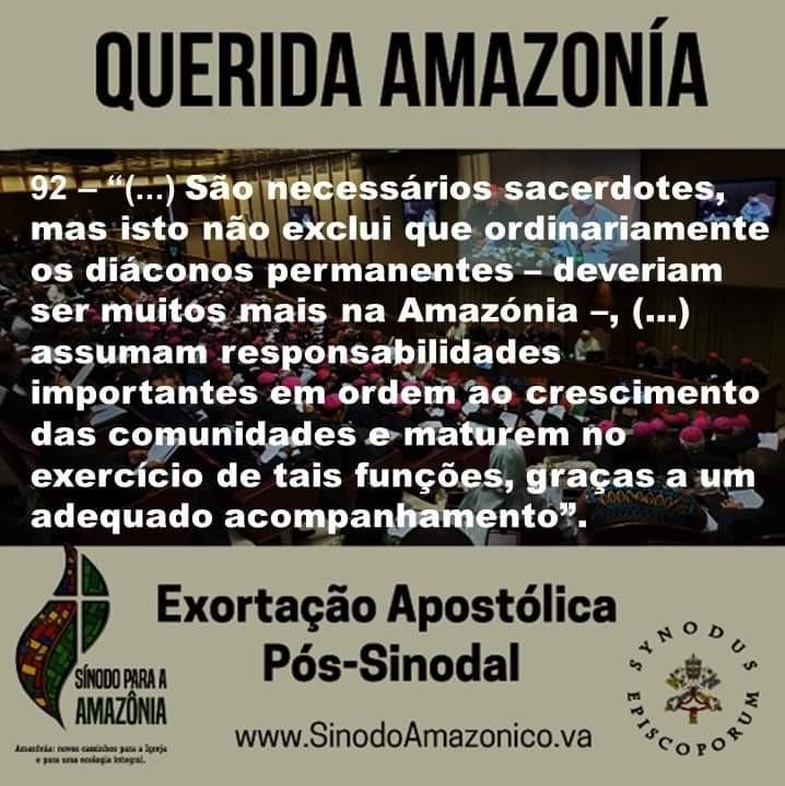 Mensagem da Presidência da CND sobre a Exortação Apostólica Querida Amazônia