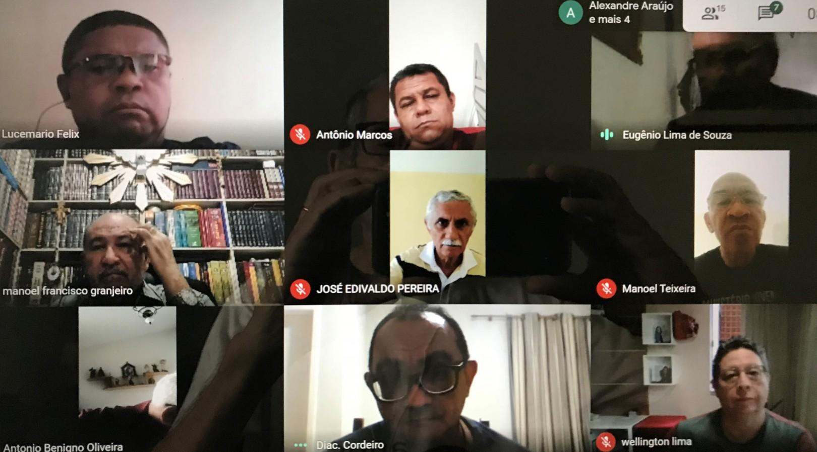 Diáconos de Natal-RN realizam nova reunião virtual