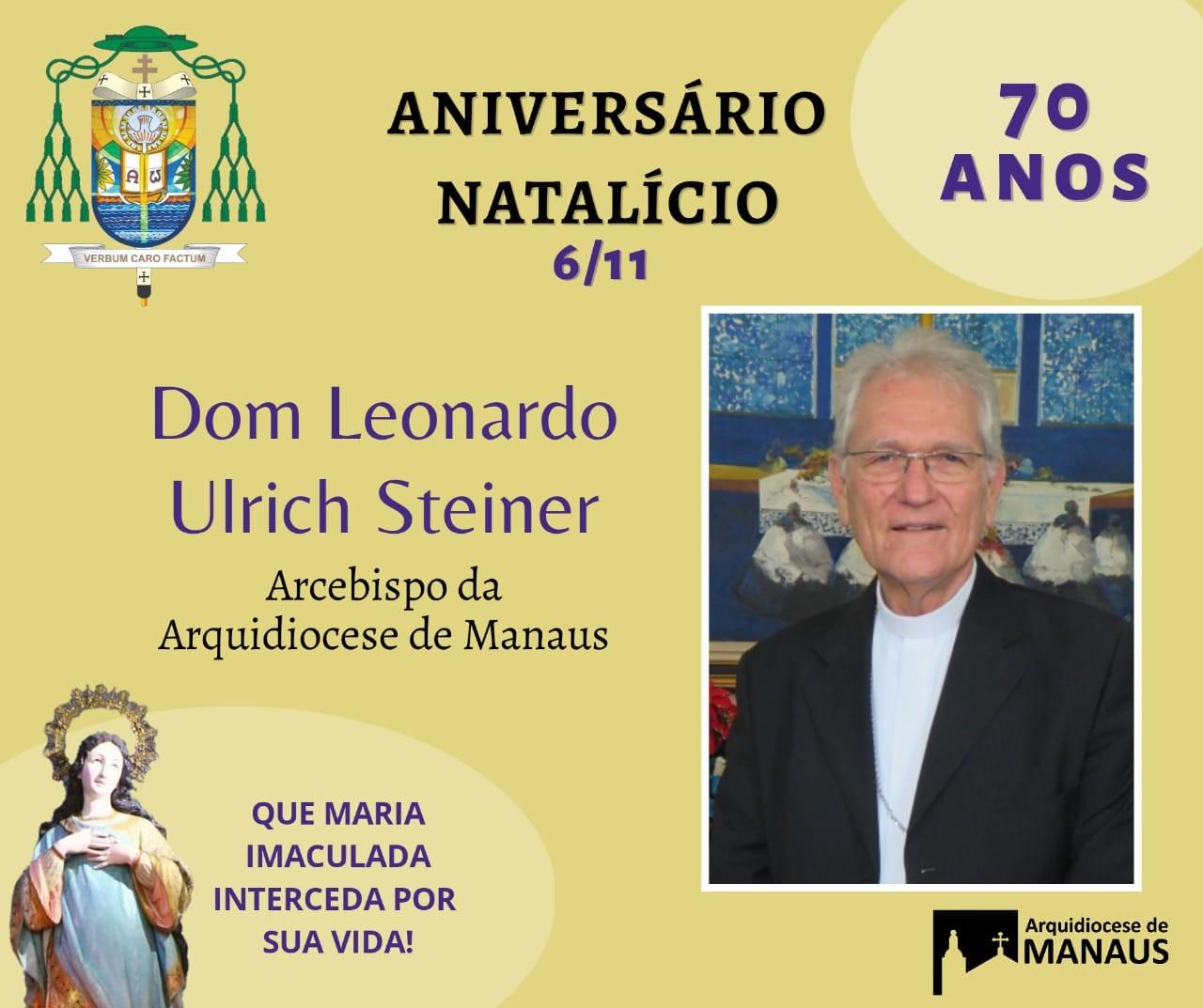 Presidência da CND cumprimenta Dom Leonardo pelo aniversário natalício