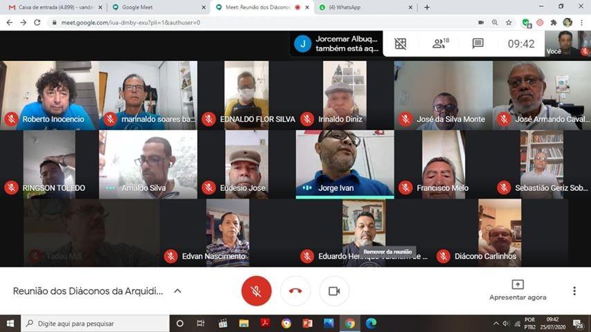 Diáconos da Arquidiocese da Paraíba realizaram reunião por videoconferência