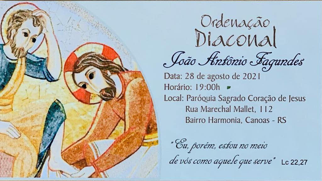 CONVITE DE ORDENAÇÃO DIACONAL PERMANENTE DA ARQUIDIOCESE DE PORTO ALEGRE (RS)