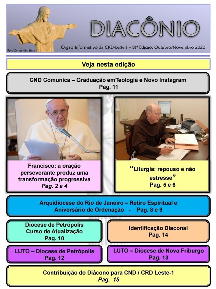 DIACÔNIO Nº 81 - OUTUBRO/NOVEMBRO DE 2020