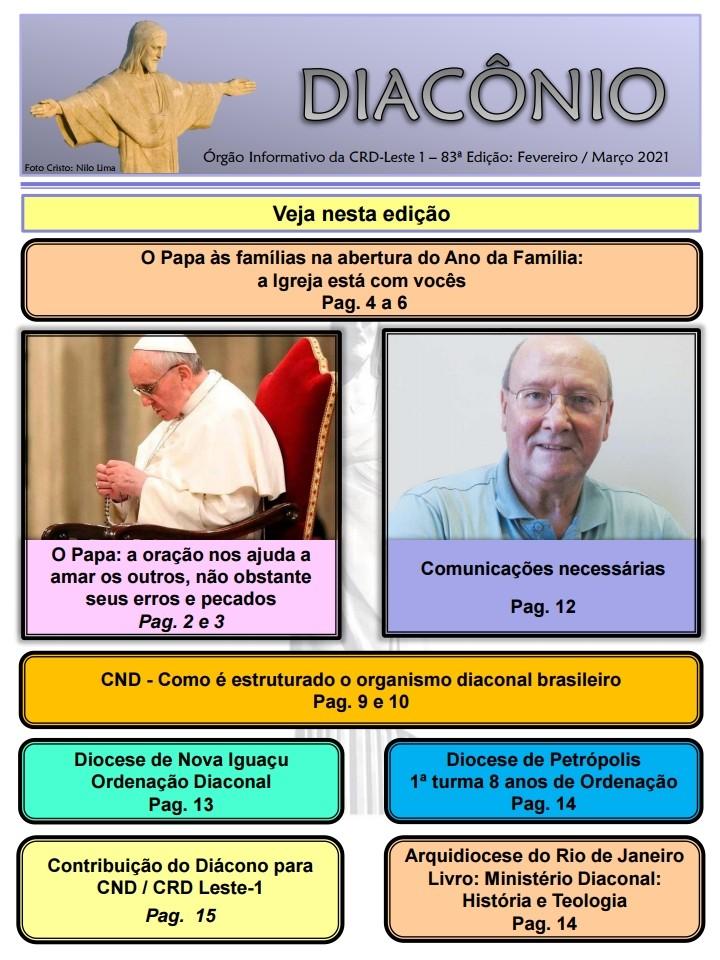 DIACÔNIO Nº 83 - FEVEREIRO/MARÇO 2021