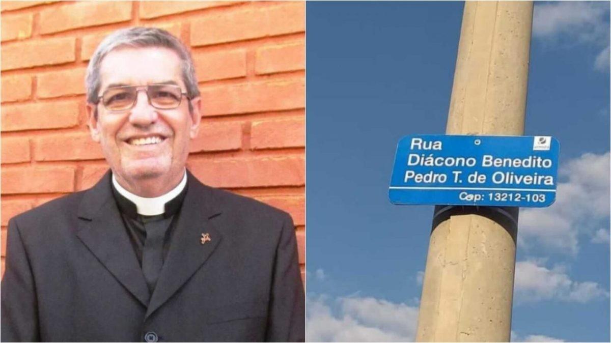 Diácono Benedito Pedro é homenageado em nome de rua no Jardim Ermida I em Jundiaí (SP)