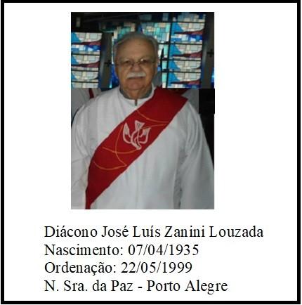Nota de Falecimento - Diácono José Luiz Zanini Louzada
