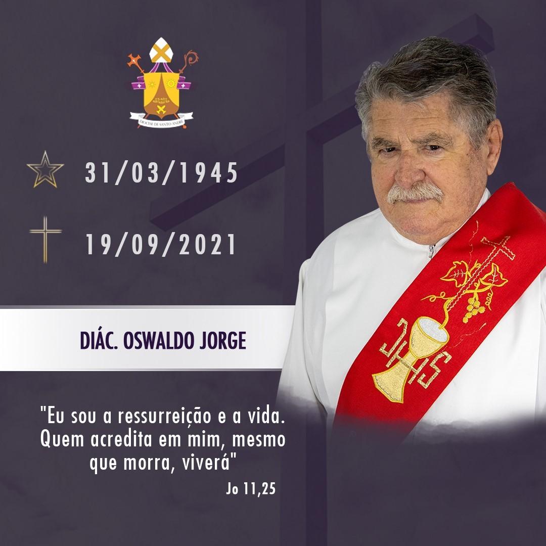 Nota de Falecimento - Diácono Oswaldo Jorge