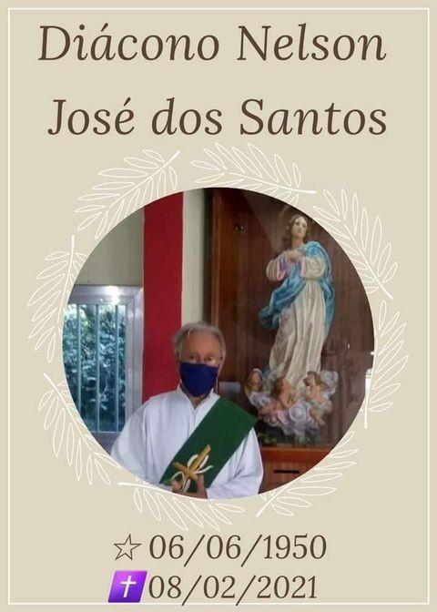 Nota de falecimento: Diácono Nelson José dos Santos
