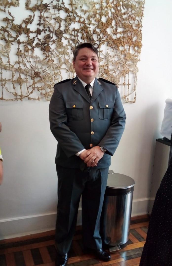 Diácono Julio Bendinelli, promovido a Capitão da Polícia Militar do Espírito Santo