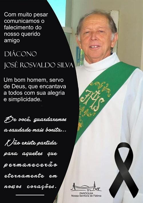 Faleceu o Diácono José Rosvaldo Silva