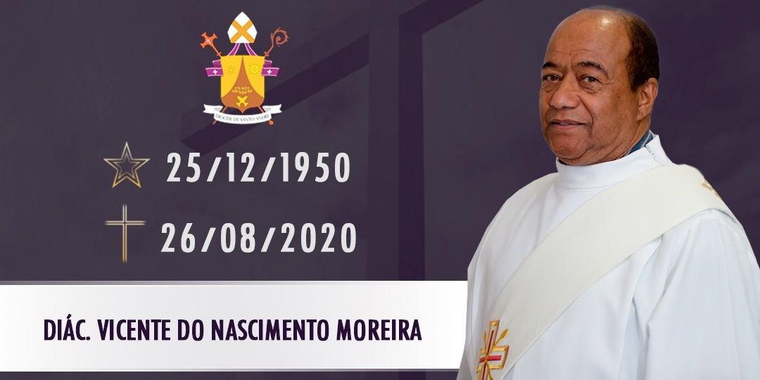 Comunicado da Diocese de Santo André (SP) pelo falecimento do diácono Vicente do Nascimento Moreira