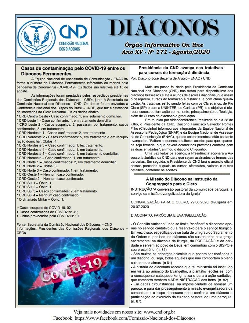 DIÁCONOS Nº 171 - AGOSTO DE 2020