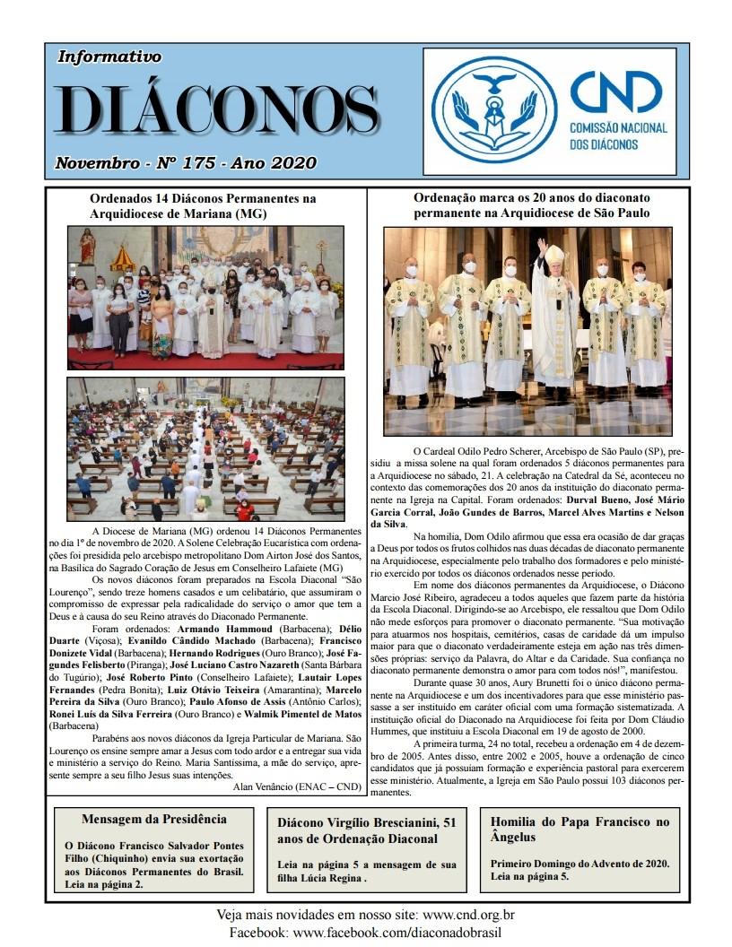 DIÁCONOS Nº 175 - NOVEMBRO DE 2020