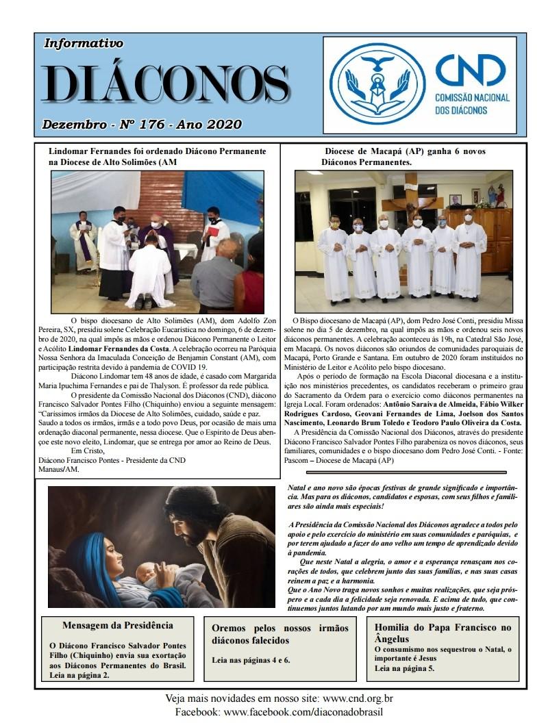 DIÁCONOS Nº 176 - DEZEMBRO DE 2020