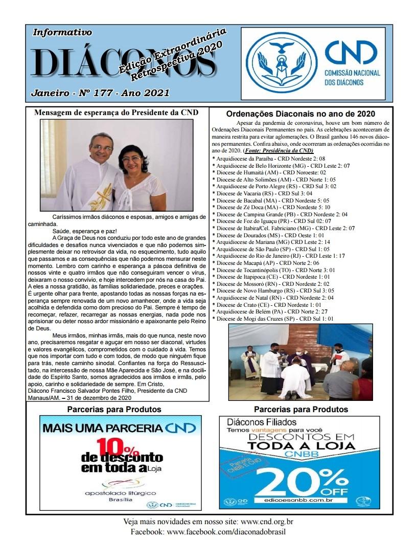 DIÁCONOS Nº 177 - JANEIRO DE 2021 - EDIÇÃO EXTRAORDINÁRIA