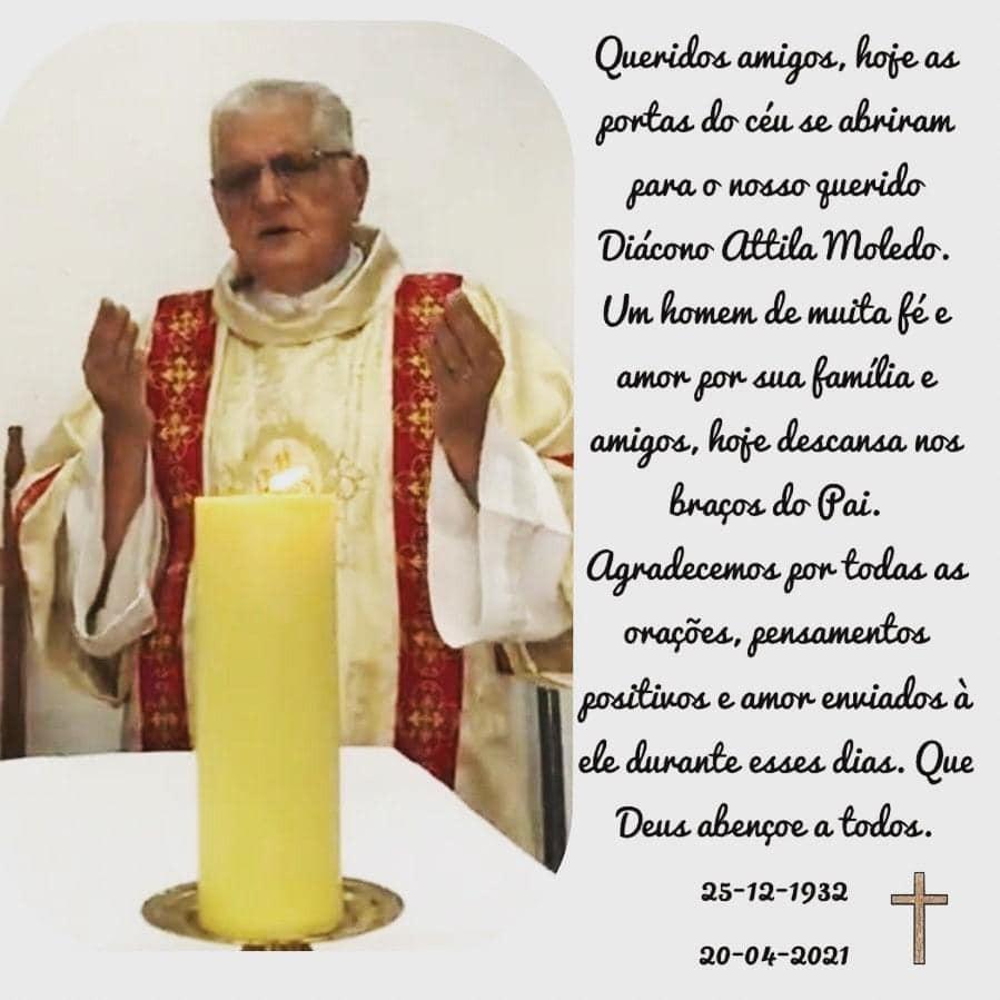 Nota de Falecimento - Diácono Attila Moledo, CRD Leste 1