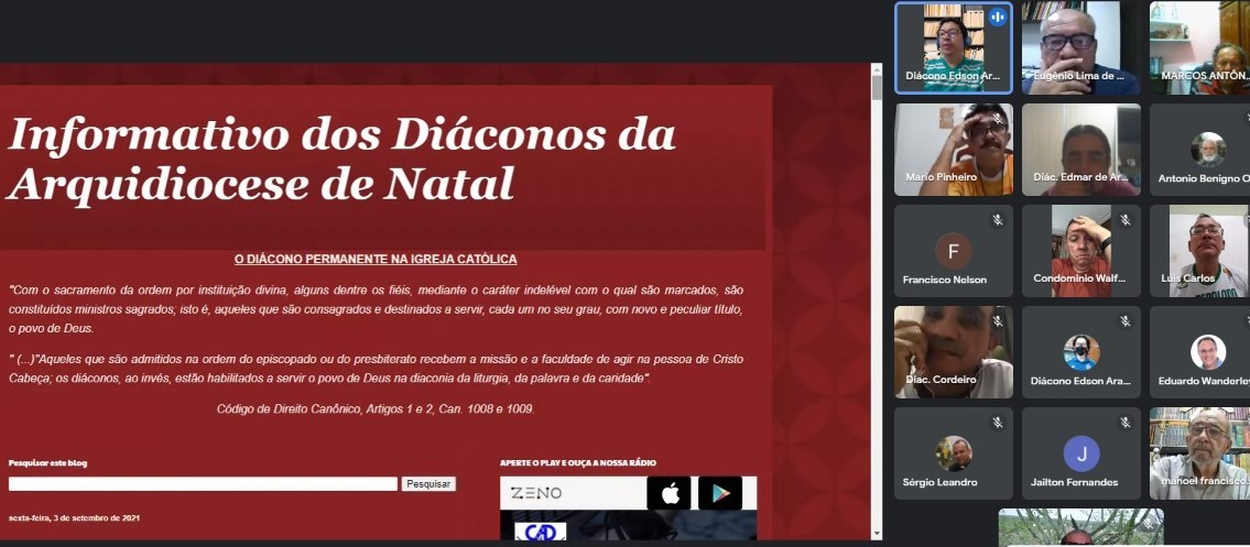 DIÁCONO DE NATAL CRIA PÁGINA VIRTUAL PARA DIVULGAR AÇÕES DIACONAIS E ECLESIAIS