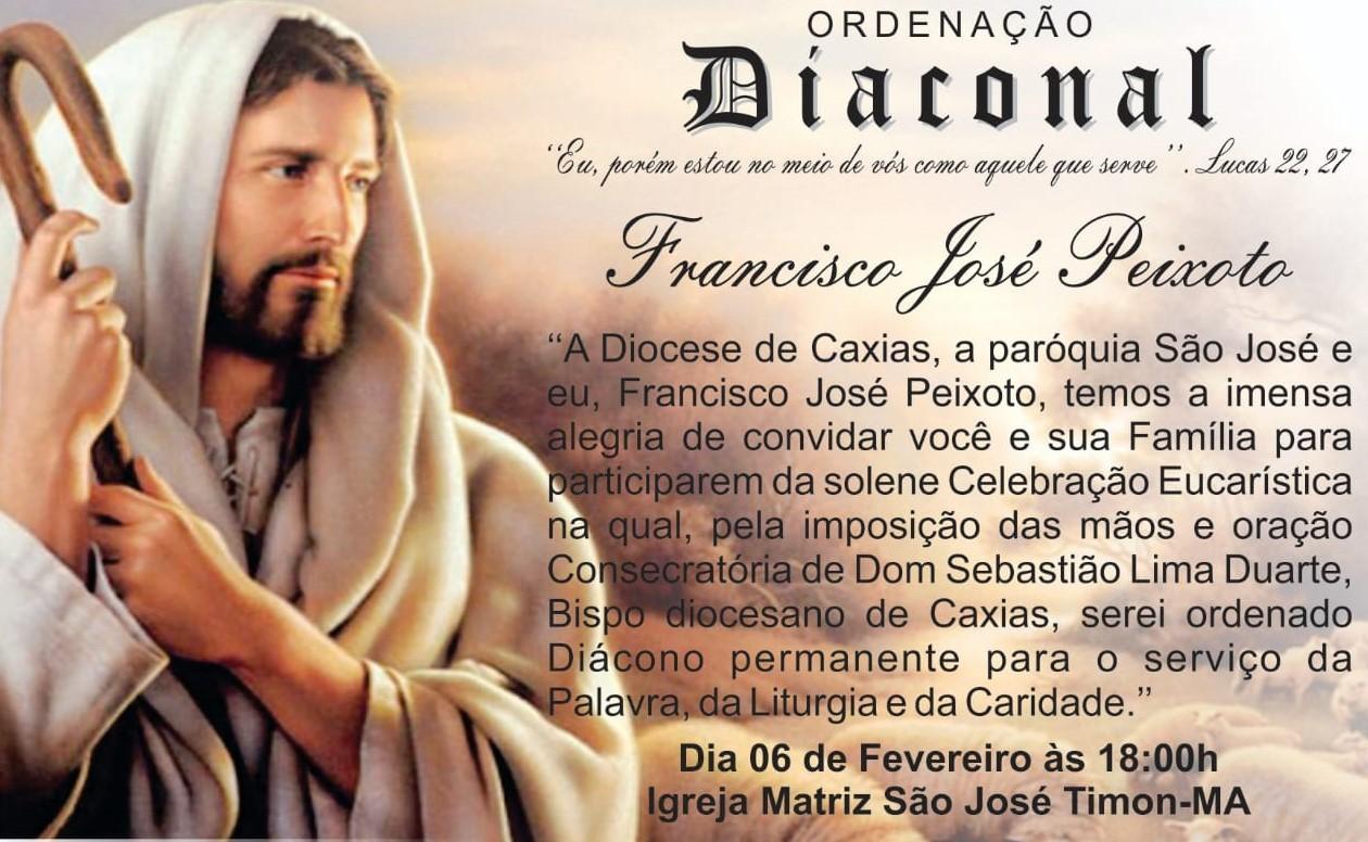 Bispo de Caxias-MA ordenará Diácono Permanente dia 6 de fevereiro