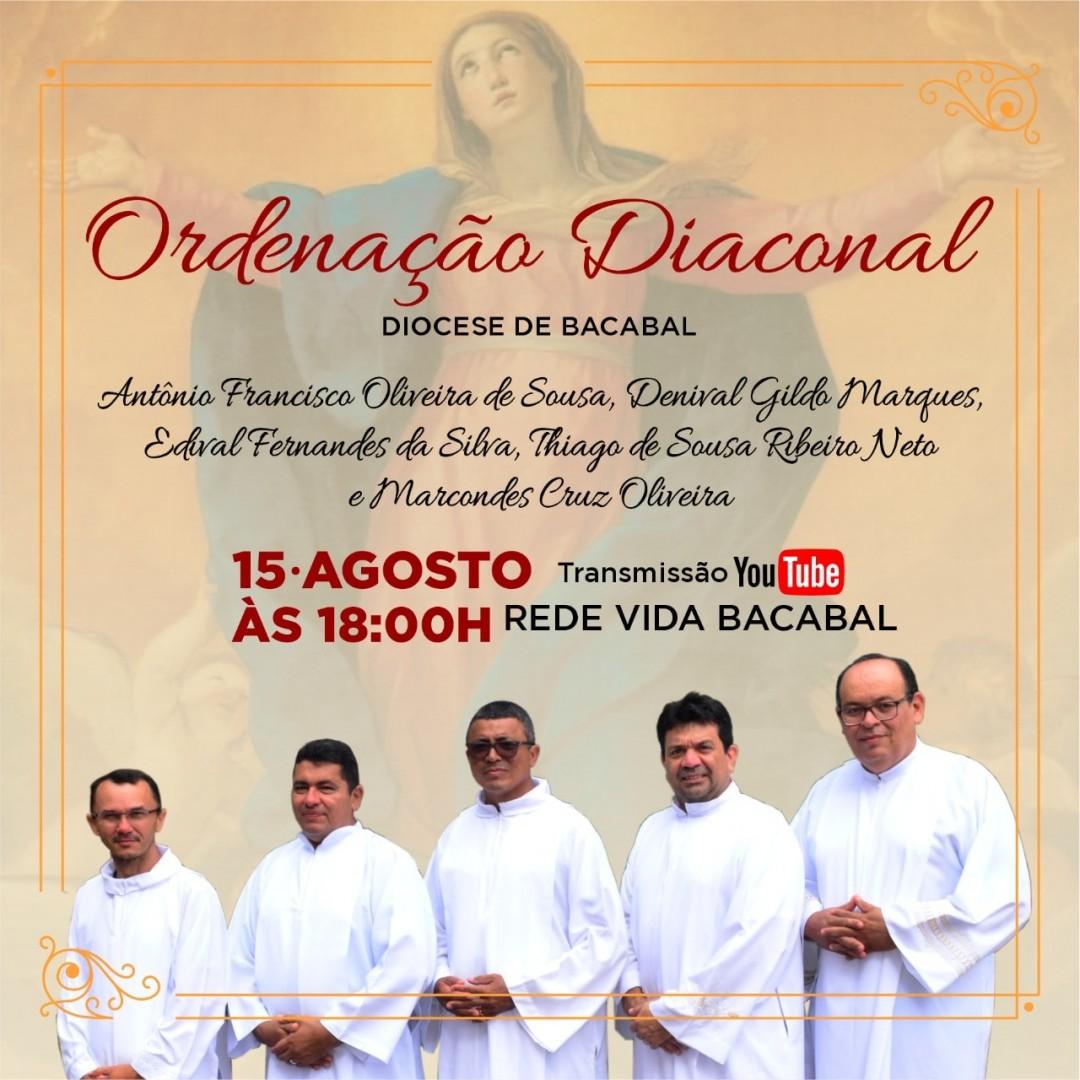 Cinco novos Diáconos permanentes serão ordenados neste sábado na Diocese de Bacabal (MA)