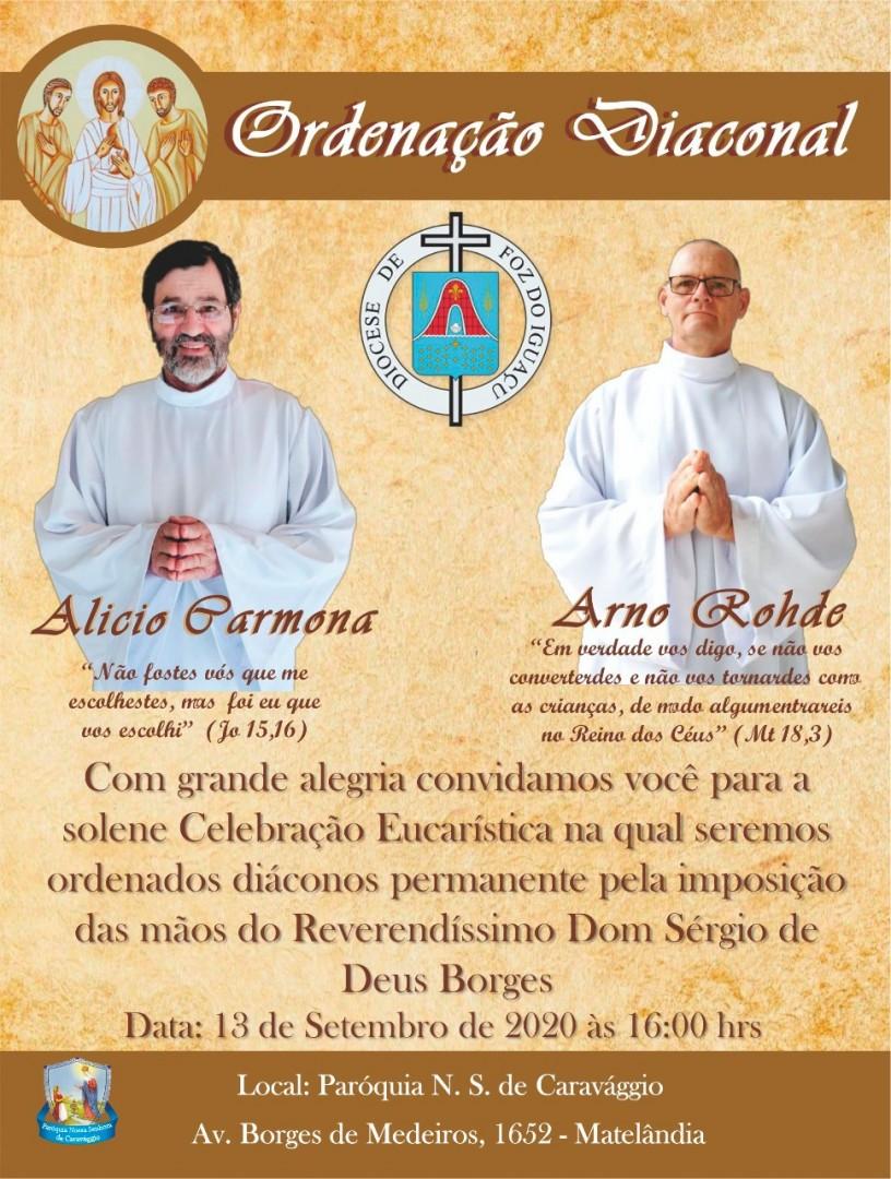 Novas Ordenações Diaconais na Diocese de Foz do Iguaçu (PR)