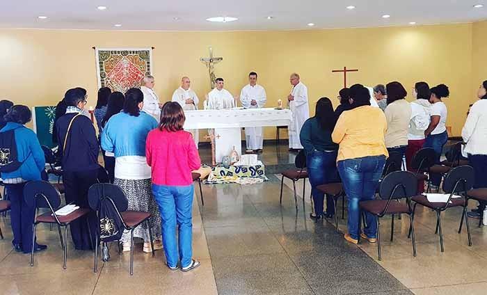 Momento de Ação de graças na reunião da CND em Brasília